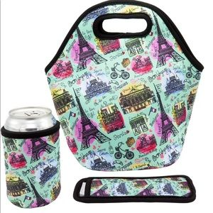 Handbags - Neoprene Lunch Bag - Insulated Lunch Tote Bag